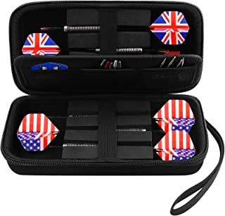 GWCASE Dart Case for 6 Steel Tip and Soft Tip Darts, Dart Carrying Storage Holder Fits for Dart Tips, Shafts and Flights (...