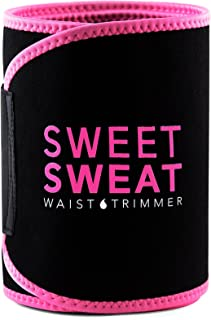 Sports Research Sweet Sweat Premium Waist Trimmer for Men & Women. Includes Free Sample of Sweet Sweat Workout Enhancer!, Large: 9