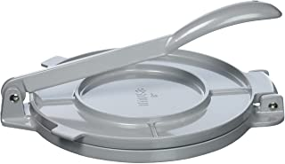 IMUSA USA MEXI-86008 8-In. Aluminum Tortilla Press, 8 Inch, Silver
