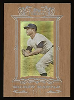 Rare 2007 Topps Sterling Mickey Mantle 1/1 One Of One Cherry Wood Baseball Card