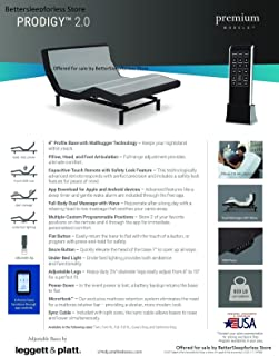 Prodigy 2.0 Leggett and Platt Adjustable Bed Base! Free White Glove Delivery! Includes Extended 10 Year inhome Warranty! 25 Year Total Warranty! (Twin XL (38x80))
