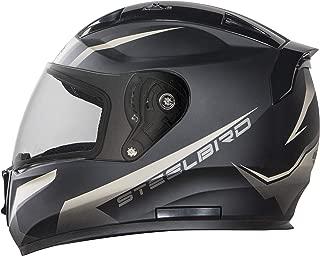 Stelbird SA-1 Whif Full Face Helmet In Matt finish (Large 600 MM, Matt Black/Desert Strom with Plain Visor)