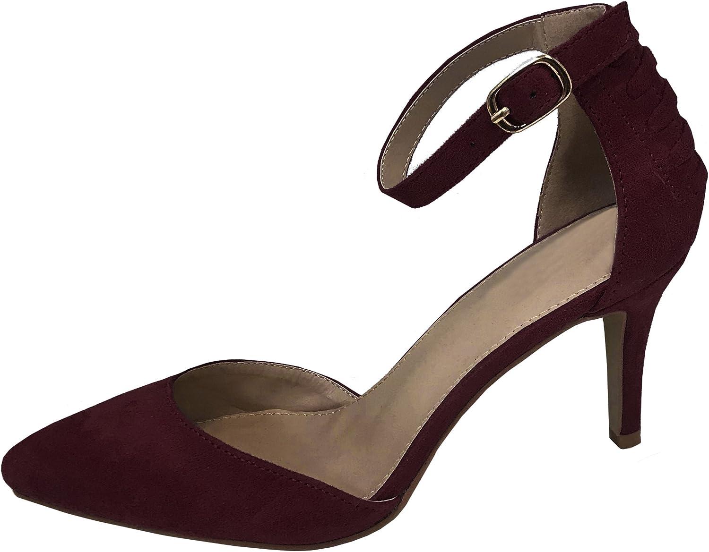 Cambridge Select Woherrar Woherrar Woherrar closed point Toe Buckle Ankle Strappy Mid Heel Pump  välkommen att köpa