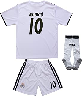 891e4f8fe textface 2018/2019 Real Madrid #10 Modric Kids Home Soccer Jersey & Shorts  Youth