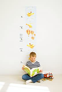 Growth Chart For Kids - Airplanes Growth Chart Decal - Height Chart For Kids Vinyl Decal - Airplanes Nursery Wall Decor - ...