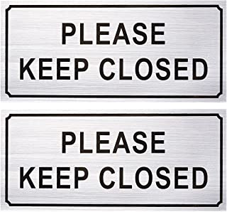 2-Pack Please Close Signs - Please Keep Closed Gate Signs Close Signs for Dog Gate Business and Home Use Silver - 7.87 x ...