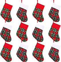 Cooraby 12 Pack Christmas Mini Stockings Small Christmas Fireplace Hanging Stockings Decoration Stockings for Xmas Decoration