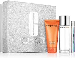 Clinique Perfectly Happy Gift Set Perfume Spray 1.7oz, Body Cream 2.5oz & Rollerball .2oz