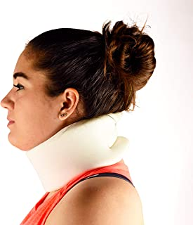 Dr. Franklyn's Cervical Collar Neck Brace - Ergonomic Adjustable Immobilizer Spine Pain & Pressure Relief & Sleep Support - One Size Fits All