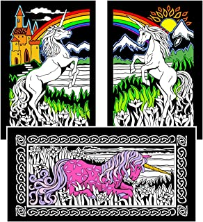 Stuff2Color Unicorns - Fuzzy Coloring Poster - 16x20 Inches