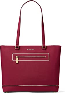 e562a683772203 MICHAEL Michael Kors Frame Out Item Large North South Tote (Cherry)