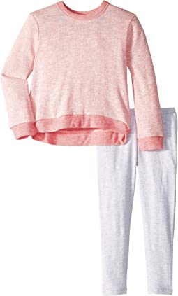 Long Sleeve Top Loose Knit Set (Toddler/Little Kids)