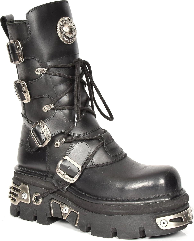 Nya Rock Rock Rock herr Biker Style stövlar svart Lace upp Real läder Buckle Design Platform Skor  bara för dig