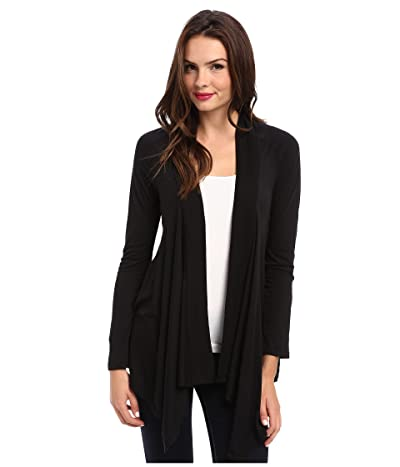 Splendid Exclusive Very Light Jersey Drape Cardigan (Black) Women
