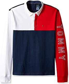 Tommy Hilfiger Men's Adaptive Seated Rugby Shirt with Velcro Brand Back