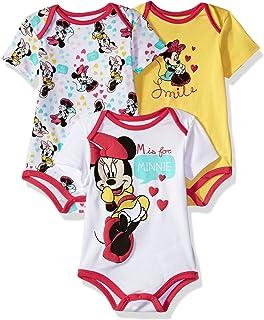 Disney Baby Girls 'Minnie Mouse Paquete de 3 enteritos