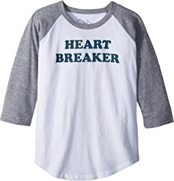 Chaser Kids - Vintage Jersey Heart Breaker Raglan Tee (Little Kids/Big Kids)