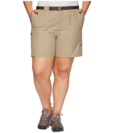Columbia Plus Size Sandy Rivertm Cargo Short (Tusk/Metal) Women