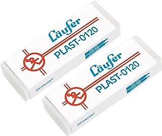 Läufer 69809 Plast 0120 gumka do ścierania ołówków i kredek, opakowanie zawiera 2 gumki do ścierania