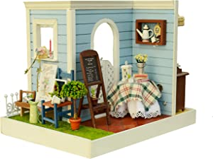Flever Dollhouse Miniature DIY House Kit Creative Room with Furniture for Romantic Artwork Gift (Mary's Sweet Baking)