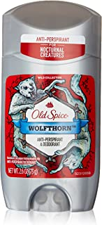 Old Spice Anti-Perspirant 2.6 Ounce Wolfthorn Solid (76ml) (6 Pack)
