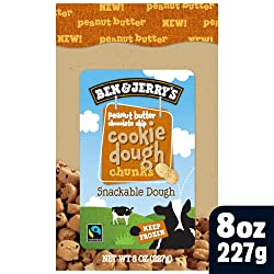 Ben & Jerry's Dough Chunks Vegan Chocolate Chip Cookie Dough, 8 oz (frozen)