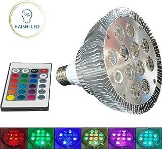 PAR38 E26 18 LEDs RGB Multicolor 14 Watt LED Bulb Light Includes Remote with 16 Colors