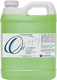 Grapeseed Oil Pure Natural Grape Seed Cold Pressed 16 or 32 oz Hair Face Skin Massage Moisturizing Premium Quality (32 oz)