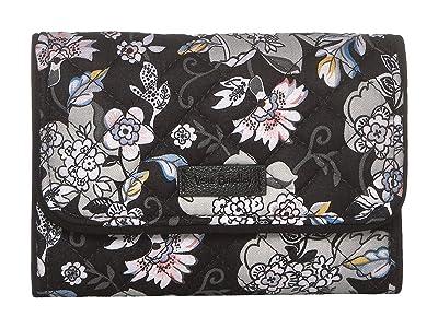 Vera Bradley Iconic RFID Riley Compact Wallet (Holland Garden) Wallet Handbags