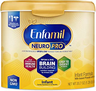 Enfamil NeuroPro Infant Formula - Brain Building Nutrition Inspired by Breast Milk - Reusable Powder Tub, 20.7 oz