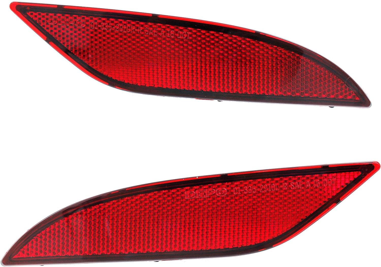 Evan-Fischer Rear Bumper Reflector Set of Compatible Max Overseas parallel import regular item 58% OFF 2016 with 2