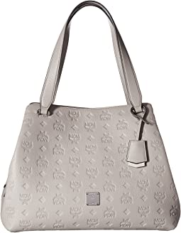 Essential Monogrammed Leather Medium Hobo