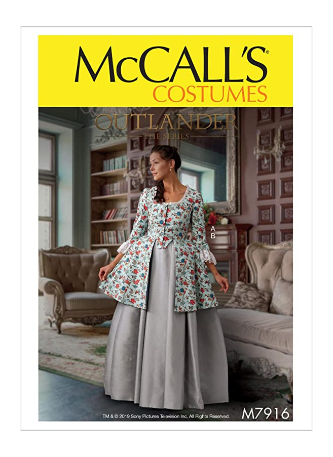 McCall's Patterns M7916 E5 Misses Costume from Outlander: The Series, Size 14-22