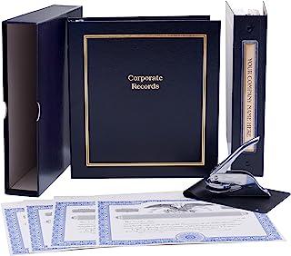 LLC Kit (Black) - Binder, Slipcase, Operating Agreement, Membership Certificates, Index Tabs & Metal Seal