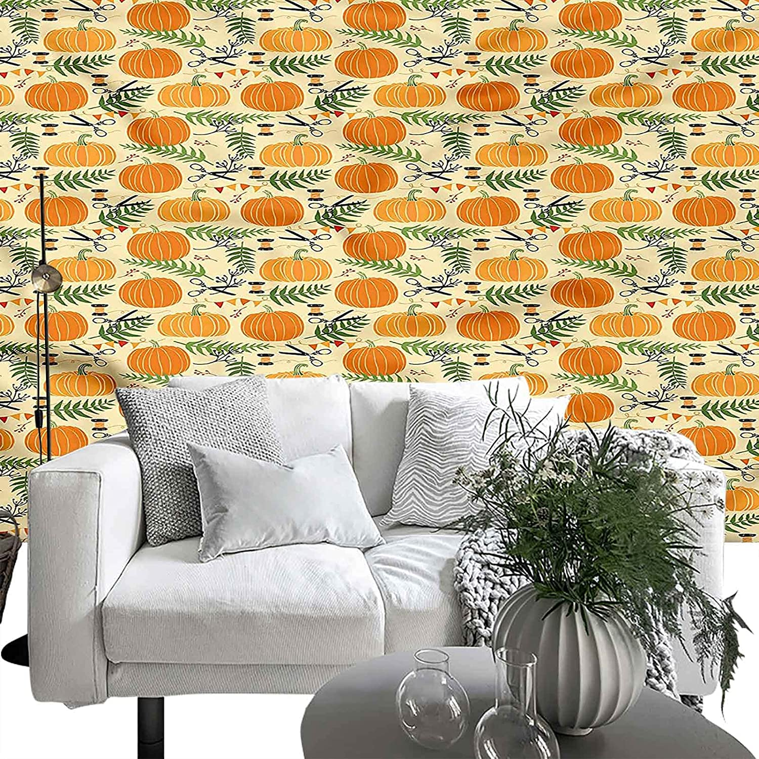 Wallpaper Wall Pumpkin Festive Ornaments 66x96 Sales of SALE items Brand new from new works inches Eas Plants