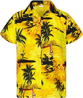 Hawaiian Shirt for Men Funky Casual Button Down Very Loud Shortsleeve Unisex Surf