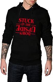 Black Graphic Hoodies for Men - American TV Series Pullover Hooded Sweatshirt