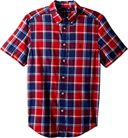 Cotton Madras Sport Shirt (Big Kids)