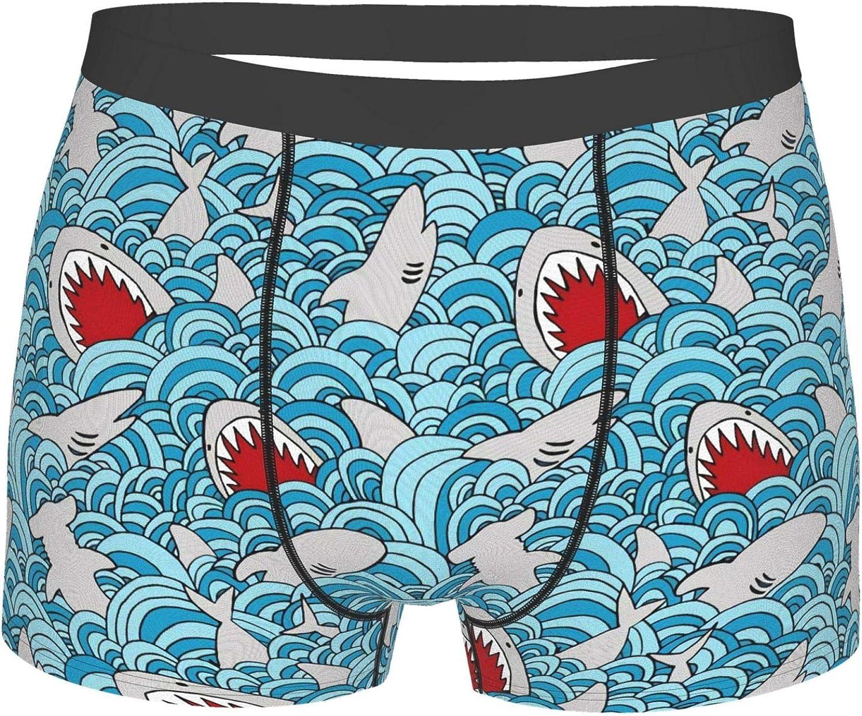 Shark Attack Mens Elegant Boxer Briefs-Premium Underwear Regular discount for Comfort Men