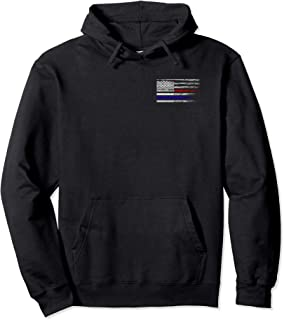 Police Fire EMS First Responder American Flag Firefighter Pullover Hoodie