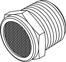 Tompkins BV-02 Pipe Fitting, Breather Vent Plug, 1/8-27, Brass