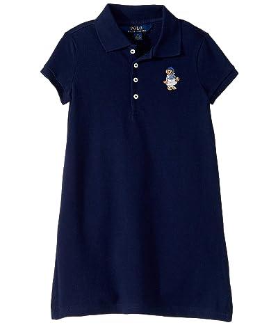 Polo Ralph Lauren Kids Bear Terry Dress (Little Kids) (French Navy) Girl