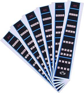 COSMOS Violin Finger Guide Fingerboard Sticker Finger Chart Fret guide Label Fretboard Marker (For 4/4 Violin)