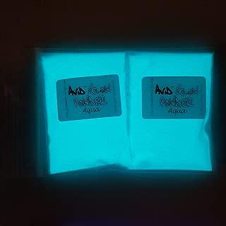 Glow in The Dark Pigment Powder; Neutral in Daylight, Aqua Glow in Dark; 2.9oz (80g); for Resin, Slime, Nail Polish, Paints