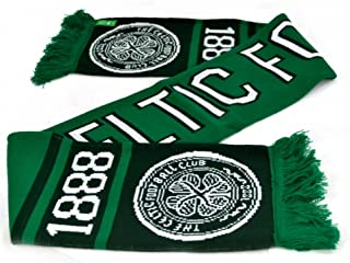Celtic FC Official Soccer Nero Jacquard Scarf