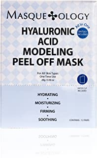 Best Masqueology - Hyaluronic Acid Modeling Peel Off Mask | Moisturizing, Hydrating, and Firming Skincare Mask (12 Pack) Review