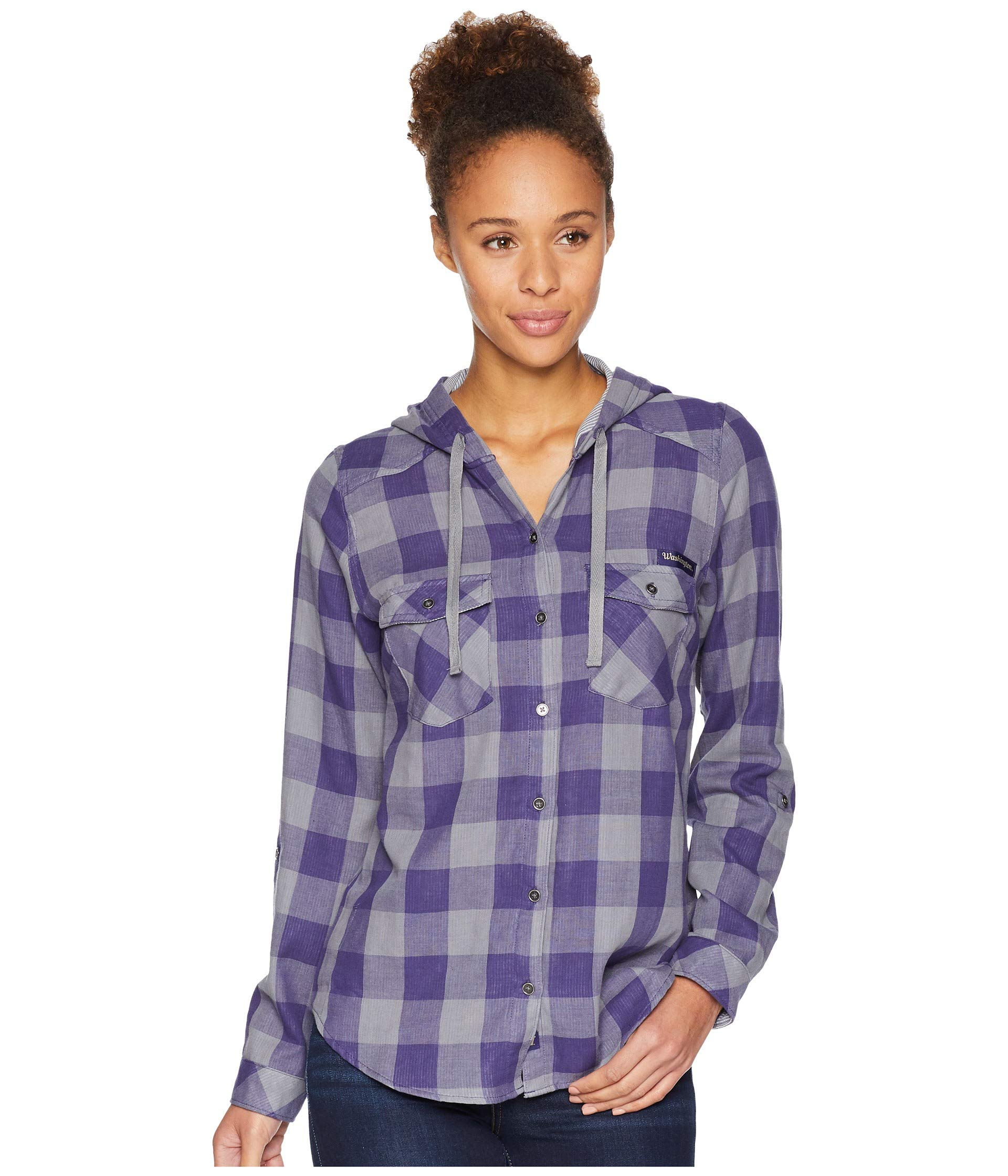 Times deep Collegiate Columbia Shirt Sleeve Check Hooded Purple Uw Long Two™ T5xwp
