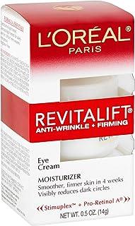 L'Oréal Paris Revitalift ضد چین و چروک + درمان سر کرم چشم، 0.5 اونس.