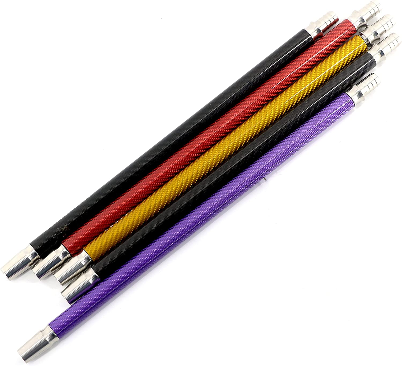 Boquilla para shisha o cachimba de fibra de carbono, 38 cm de tubo de fibra de carbono para furmar cachimba o shisha (Negro)
