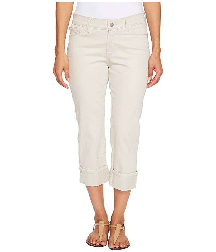 NYDJ Petite Petite Dayla Wide Cuff Capris in Clay (Clay) Women's Jeans